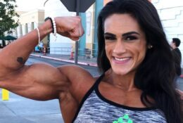 Massive Female Bodybuilder Natália Coelho Solo Fun