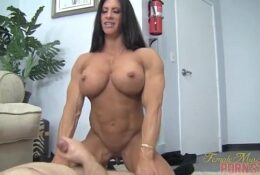 Naked Female Bodybuilder Angela Salvagno Abuses Her Man