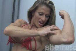 Female Bodybuilder Maria Garcia Strips Off Her Dress