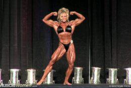 Debi Laszewski flexing and posing routine