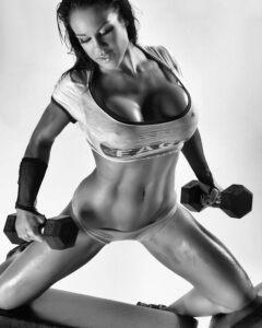 fit muscular and big boobed SAMANTHA KELLY