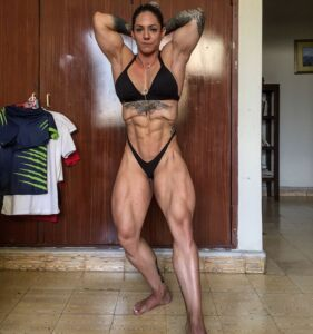 Sexy and muscle Hulda Lopez