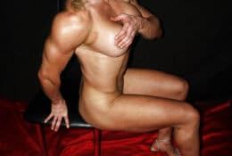 Full nude English muscle LISA cross