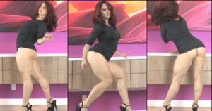 Muscle Calves Pin-up girl Andrea Rosu