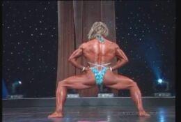 Debi Laszewski sexy posing routine (perfect ripped body) @arnold classic