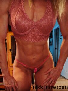 AMAZONE NIKKI Showing off abs and stripping