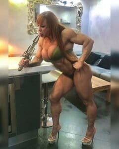 sexy and almost nude Barbara Carita'