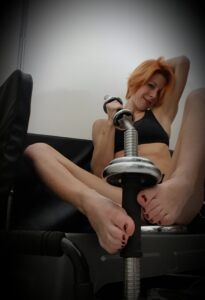 Have fun with fit and gym woman french redhead mymiesexy