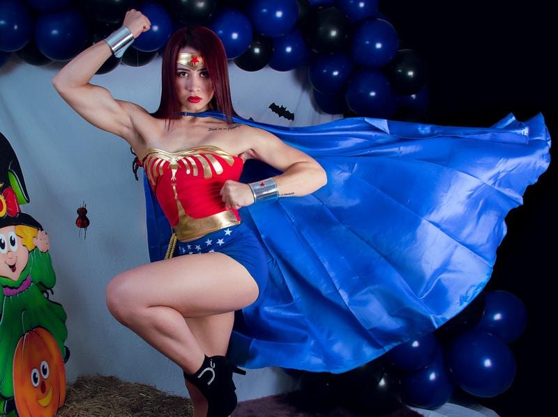 sexy cam girl superwoman
