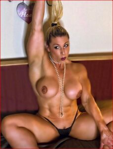 Girl with muscle and Buff women