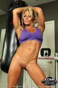 Gina West muscle milf with ripped body
