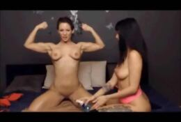 Fit Lesbian Couple Ripped and Oiled Up