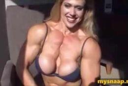 COLETTE NELSON Big Tits and Pecs Flexes
