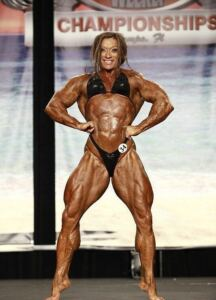 Posing and flexing colette guimond
