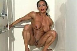 Muscular denise Masino full nudity in the SHOWER