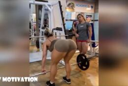 Muscle Barbie VIVI WINKLER legs and  booty work out