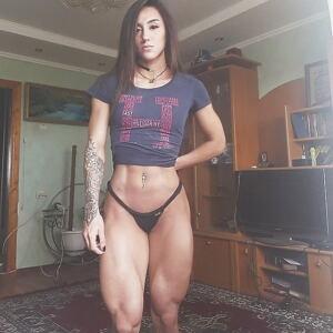 Sexy Muscle Legs Bakhar Nabieva Miss IRON BUM