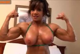 MARINA LOPEZ TOPLESS AND POSING OILED BODY