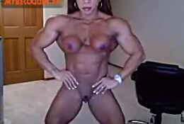 Asian FBB naked at home on CAM