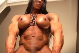 ANGELA Sexy Female Bodybuilder huge muscles and massive clit