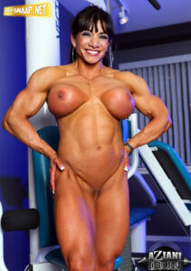 Sexy workout with muscle marina lopez