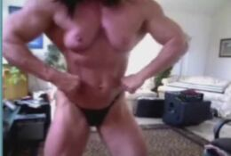 Muscle Cam Girl Posing