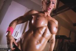 Ripped female bodybuilder nude workout – JILL JAXEN –