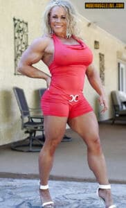 Massive sexy female full of MUSCLE ALEESHA YOUNG