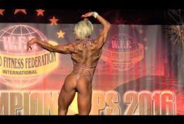 Julie Pereira sexy shredded body posing and flexing 4k