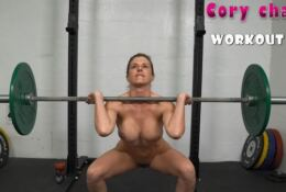 Fitness with busty blonde MILF Cory Chase