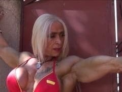nude women with muscle body