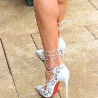 Fit and ripped calves on high heel